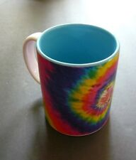 [Jumbo] Tie Dye Rainbow Swirl Ceramic Coffee Mug, Hip, Rasta