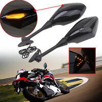 Motorcycle Led Turn Signal Mirrors For Honda CBR250R 2011-2013 CBR500R 2012-2014