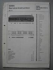 Saba HIFI-studio 8120 G stéréo service manual