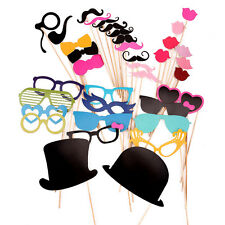 36 Photo Booth Props Glass Moustache Lips on A Stick Weddings Christmas Birthday