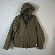 Paul Smith Winter Jacket Parka Men's Large Brown Hooded Medium Weight Coat