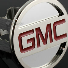 "GMC Stainless Steel CHROME Hitch Cover Cap Plug for 2"" Trailer Tow Receiver"