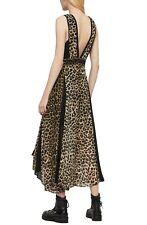 ALL SAINTS NWT Dress sz 6 Leopard Animal Print Fit & Flare Asymmetric Hem  .G23