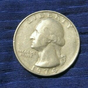 QUARTER DOLLAR  UNITED STATES OF AMERICA  1974