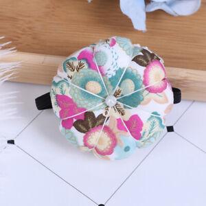 Pumpkin Shape Pin Cushion DIY Craft Sewing Pin Elastic Wrist Band Pin cushi FJ