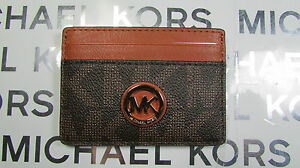 NWT Michael Kors Leather or PVC Fulton Card Case Holder