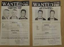 *BOTH* 1968 JAMES EARL RAY 1968 FBI WANTED POSTERS MARTIN LUTHER KING *PLS OFFER