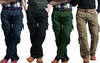 Mens Cargo Military Trousers Six Pocket Army Combat Pants Casual Outdoor Slacks