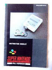 55011 Instruction Booklet - Super Nintendo Console - Nintendo SNES (1992) HW(A)-