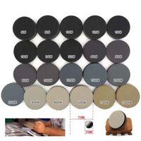 30pcs 75mm Wet/Dry Abrasive Sanding Discs Kit Hook & Loop Round Sandpaper Sheet