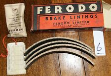 "Vintage Ferodo Brake Linings GC/9/1 Boxed Set with Rivets 11"" x 1 3/8"" drums.  6"