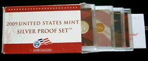 2009 Mint Silver Proof set complete clean free priority ship