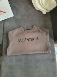 Essentials fear of god Crewneck Sweatshirt Brown (Read Description) L Used