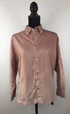 Diesel Black Gold Women's CERLY-A 3/4 Sleeve Button Down Shirt Size IT 38 (F260)