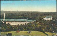 Postkarte Remscheider Talsperre farbig, 1915, orig. gelaufen nach Flensburg
