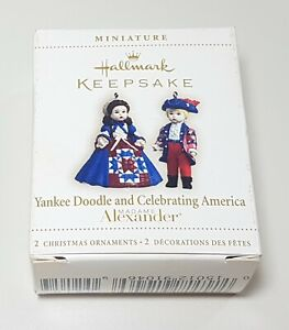Hallmark Yankee Doodle & Celebrating America Madame Alexander Mini Ornaments