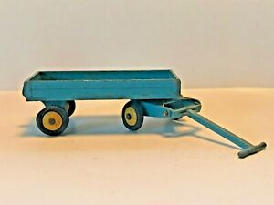 Vintage Old DINKY TOYS No105c 4 Wheel HAND CART/ TRUCK/ TRAILER Blue Yellow Hubs