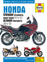 Haynes Manual Honda VTR1000F FireStorm Super Hawk 97-07 XL1000V Varadero 99-08
