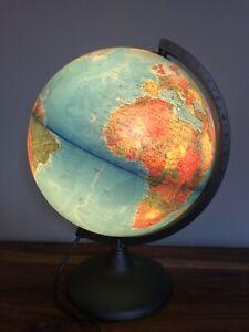 Large Tecnodidattica Illuminated Light Up World Globe Fully Working