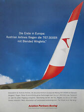 6/09 PUB BOEING 767-300ER AUSTRIAN AIRLINES BLENDED WINGLETS ORIGINAL GERMAN AD
