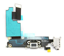 Grey audio jack charger charging port flex cable iphone 6 Plus Black Replacement
