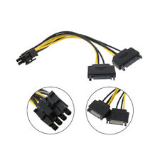 Dual SATA to PCI-E Power Cable 15Pin SATA to 8 pin / 6 pin Video Card Power Wire