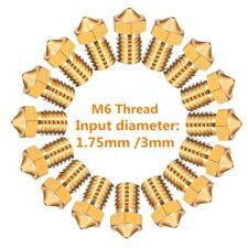1.75mm Filament Extruder Nozzle 3D Printer Nozzle for 3D V6 J-Head Makerbot lot