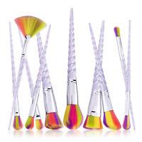 10Pcs Unicorn Makeup Brushes Set Powder Foundation Eyeshadow Lip Cosmetic Brush