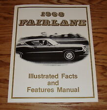 1968 Ford Fairlane / Torino Illustrated Facts Features Manual Brochure 68