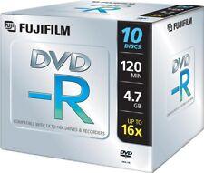 1x10 FUJI DVD-R Rohlinge WriteOnce 4.7GB 1x16x Jewel Case NEU (world*) 005-974