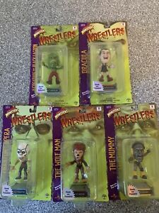 Universal Studios Monsters Wrestlers Sideshow Toys Lot Of 5 New In Package!🔥🔥