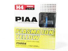 PIAA H4 Plasma Ion Yellow 2500K H-116 Halogen Headlight Bulbs Headlamp Twin Pack