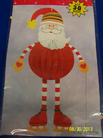 Santa Claus Winter White Christmas Holiday Banquet Party Hanging 3D Decoration