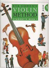 Método de violín de ETA Cohen Student's Book 1-Aprende A Jugar Libro De Partituras