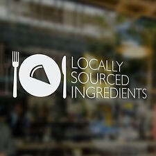 x1 Locally Sourced Ingredients, Sticker, Coffee Shop, Bar, Cafe, Restaurant,