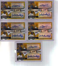 5) 2010 Bowman Sterling Gerrit Cole Jackie Bradley Gold Ref #/50 Dual Auto Lot