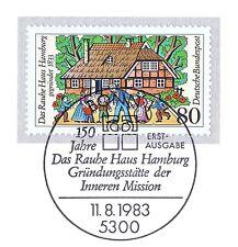 BRD 1983: Rauhes Haus Hamburg Nr. 1186 mit Bonner Ersttagssonderstempel! 1A 1803
