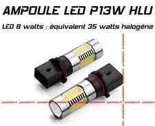 2KIT 2 AMPOULE LED XENON HLU P13W 8W EQUIVALENT 35W HALOGENE FEUX DE JOUR