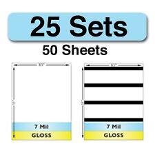 7 Mil Gloss Full Sheet Laminate Sets w/ Magnetic Stripes - 25 Sets - 50 Sheets