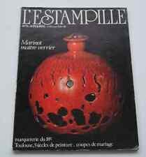 Revue d'art L'ESTAMPILLE 120 1980 MARINOT Maître Verrier Marqueterie 18° COUPES