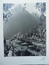 photographie studios ROBY - BOURG D'OISANS - paysage de montagne en contre-jour