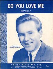 JOHNNY O'KEEFE-Do You Love Me-1962 Sheet Music-Original Australian-Berry Gordy