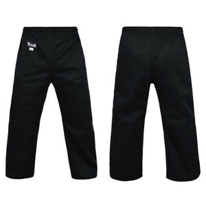 Dragon Gi Martial Arts Pants 8oz - Black - Kids & Adult Sizes - Morgan Sports