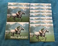 Rolex DateJust Booklet GERMAN, SPANISH, FRENCH + from 1980s-1990s -Choose date-