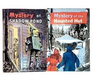 2 Vintage Scholastic Mystery Shadow Pond Haunted Hut TX318 TX167