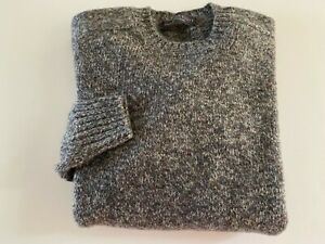 Gents Wool Shetland sweater Saddle Shoulder made in Scotland colour Greystoke