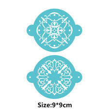 2 Pcs Packed Flower PATT Cookie Cake Stencil Decorate Mould Fondant Biscuit Tool