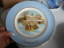 Collector's Plate 1977 Christmas Avon