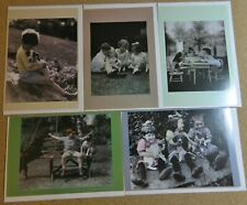 Lot of 5 Hope School Bettmann Children Dogs Vintage Greeting Cards Envelopes A51