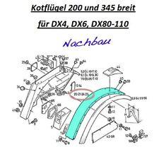 Kotflügel für Deutz-Fahr Traktoren DX 4.er/6.er-Reihe und DX 80 - 110 (einzeln)
